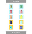 simple set of clothes and shopping flat vector image vector image