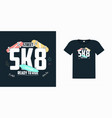 skate board print for t shirt with slogan vector image