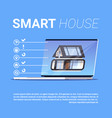 smart house infographic elements template modern vector image