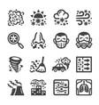 smog icon set vector image vector image