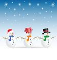 snowman set color vector image vector image