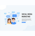 social media marketing poster vector image