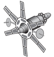 Space communications satellite vector image