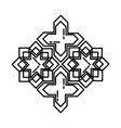 star and cross tiles icon doodle hand drawn vector image