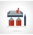 Storage structure flat icon vector image vector image