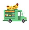Street Food Hot dog Food Truck vector image