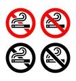 Symbols set - No smoking vector image vector image