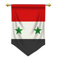 syria pennant vector image vector image