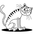 thin cat for coloring vector image vector image