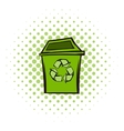 Trash can recycling eco symbol vector image