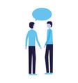 two man talking speech bubble vector image