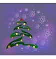 Abstract Christmas tree with golden cones balls vector image