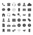 contact us solid web icons vector image