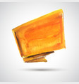 Orange flag vector image