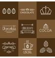 Cocoa Icon set vector image