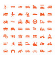 49 vehicle icons vector image vector image