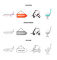 airport and airplane icon vector image vector image