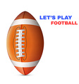 American Football isolated on White Background vector image vector image