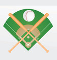 baseball ball and bats vector image vector image