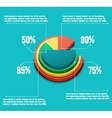 Business pie chart vector image vector image