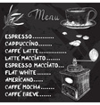 Chalkboard Coffee Menu Design vector image