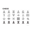 chess icons for mobile application chessmen vector image