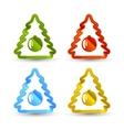 Christmas trees icons vector image