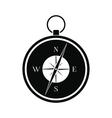 Compass black simple icon vector image vector image