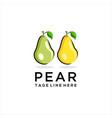creative pear fruit logo vector image