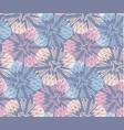 dandelion burlap seamless pattern background vector image vector image