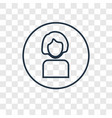 demographic concept linear icon isolated on vector image