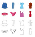 design woman and clothing logo set of vector image vector image