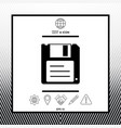 floppy disk icon vector image