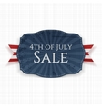 Fourth of July Sale Holiday Label vector image vector image