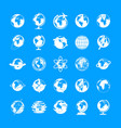 globe earth icons set simple style vector image vector image