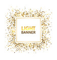 gold glitter square frame with space for text vector image vector image