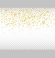 golden confetti on transparent background vector image vector image