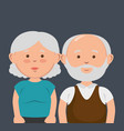 grandparents couple avatars characters vector image vector image