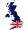 great britain map vector image vector image