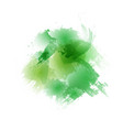 green ecology watercolor paint brush background vector image