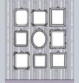 hand drawn blank frames on vintage wallpaper vector image