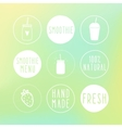 Hand drawn smoothie labels and blur background vector image vector image