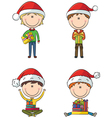 Happy Santa boys vector image vector image