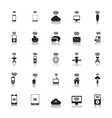 Hotspot Icons Wireless vector image