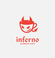 inferno cafe logo vector image