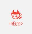 inferno cafe logo vector image vector image