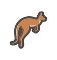 kangaroo marsupial animal icon cartoon vector image