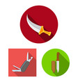 knife and cut logo set of vector image