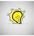 lamp light idea vector image vector image