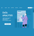 landing page data analysis concept vector image